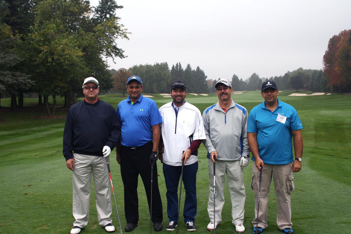 A celebrity golf team featuring former Toronto Maple Leaf Darcy Tucker.
