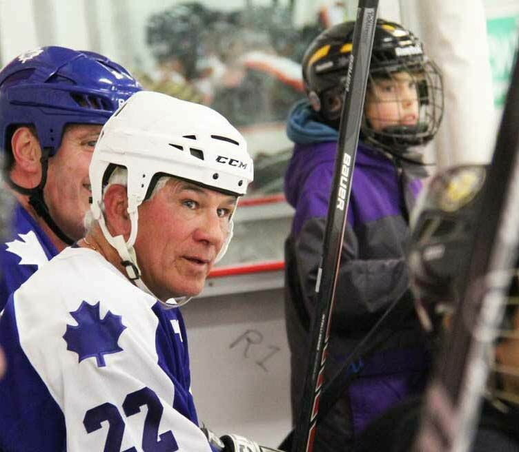 Former Maple Leaf Rick Vaive at a recent hockey tournament