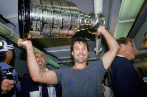 Paul Coffey Hoists The Stanley Cup